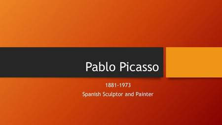 Spanish Sculptor and Painter