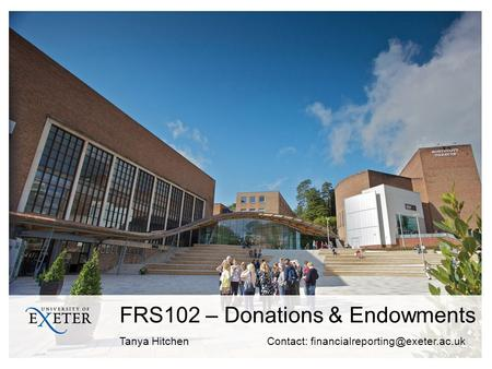 FRS102 – Donations & Endowments
