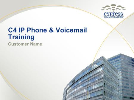 Telephone Training M3904 Telephone Set IT Support Center