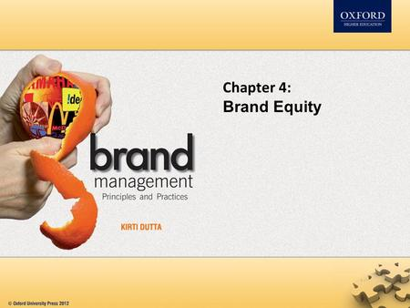 Chapter 4: Brand Equity.