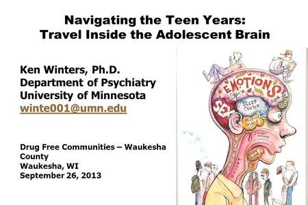 Navigating the Teen Years: Travel Inside the Adolescent Brain