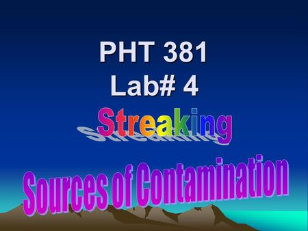 PHT 381 Lab# 4. A Culture medium:- ❊ An artificial preparation which contains the essential elements and nutrients needed by the m.o to grow. (most.