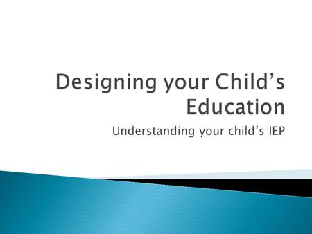 Understanding your child's IEP.  The Individualized Education Plan (IEP) is intended to help students with disabilities interact with the same content.