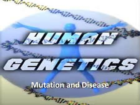 Mutation and Disease. Why Study Our DNA? Learn the effects of mutations Understand how genetic diseases are generated Propose possible treatments for.