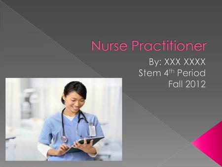 A nurse who is qualified to treat certain medical conditions without the direct supervision of a doctor.