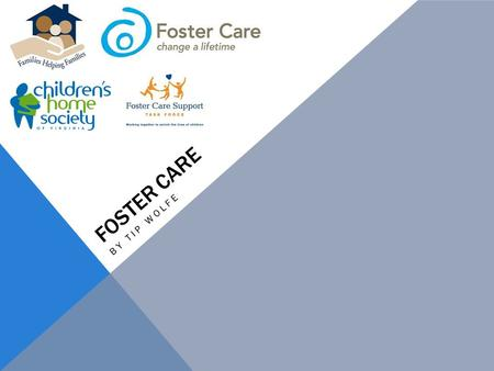 FOSTER CARE BY TIP WOLFE. FOSTER CARE Fostering- a child raised by someone who is not its natural or adoptive parent; nonpermanent adoption In the City.