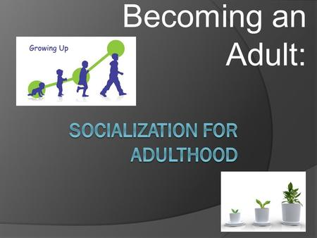 Becoming an Adult:. Consider:  How do individuals form an identity?  How do individuals prepare for an occupation?  How do individuals develop supportive.