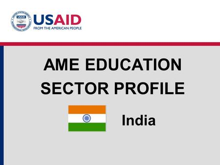 AME Education Sector Profile