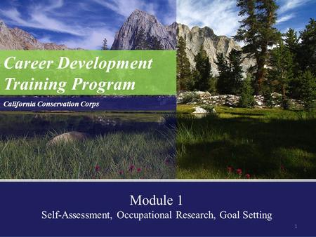 Self-Assessment, Occupational Research, Goal Setting
