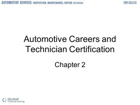 Automotive Careers and Certifications Produced by Joe Wintermute ASE ...