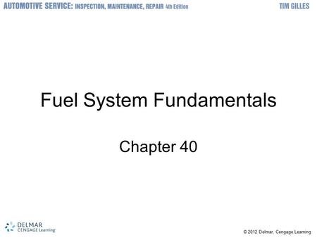 Fuel System Fundamentals