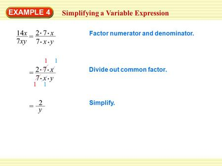 Simplifying a Variable Expression