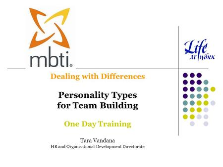 Personality Types for Team Building