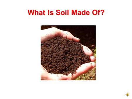 What Is Soil Made Of?.