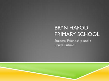 BRYN HAFOD PRIMARY SCHOOL Success, Friendship and a Bright Future.