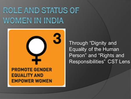 Role and Status of women in india