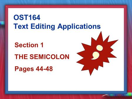 how to use a semicolon in a sentence with however