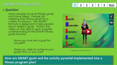 Many people have set fitness goals and have failed. People fail meeting their fitness goals for a variety of reasons. The SMART formula is designed to.