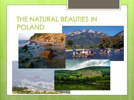 THE NATURAL BEAUTIES IN POLAND. THE VISTULA SPIT One of the most beautiful places in Poland.