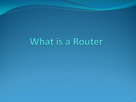 1. A router is a device in computer networking that forwards data packets to their destinations, based on their addresses. The work a router does it called.