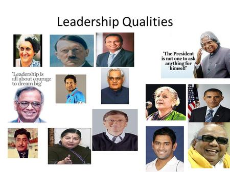 Leadership Qualities.