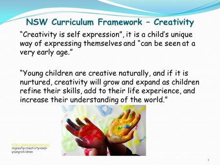 NSW Curriculum Framework – Creativity