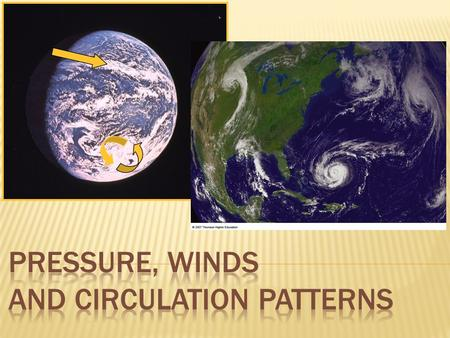 PRESSURE, WINDS AND CIRCULATION PATTERNS