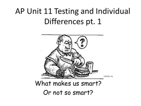 AP Unit 11 Testing and Individual Differences pt. 1