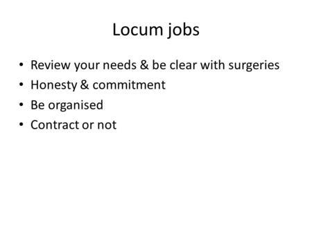Being A Gp Locum Dr Emma Wilson Gp Locum Ppt Download