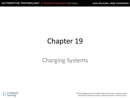 Chapter 19 Charging Systems.