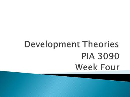 PIA 3090 Week Four. I. Golden Oldies: II. Literary Map- III. Synthesis Themes-