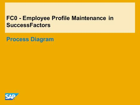 FC0 - Employee Profile Maintenance in SuccessFactors Process Diagram.