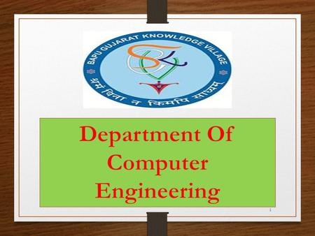 Department Of Computer Engineering