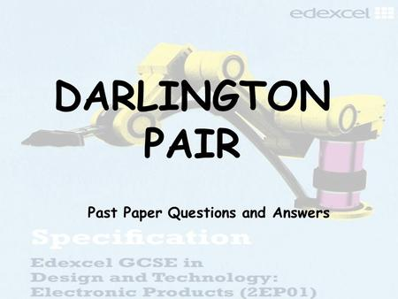 Past Paper Questions and Answers
