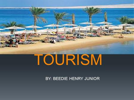 TOURISM BY: BEEDIE HENRY JUNIOR LEARNING GOALS  I will be able to:  Know and understand the true meaning of tourism  List the essentials of tourism.