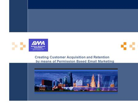 Creating Customer Acquisition and Retention by means of Permission Based Email Marketing.