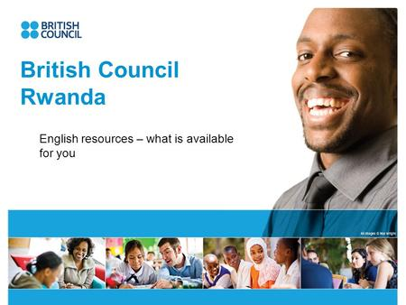 British Council Rwanda English resources – what is available for you.