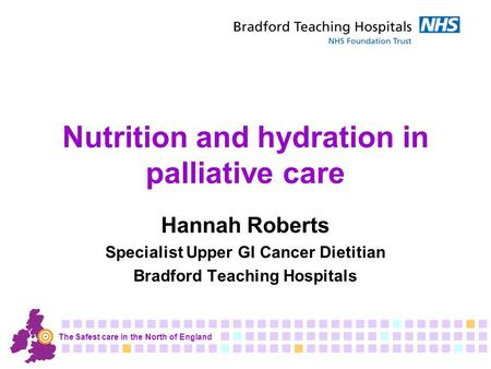 Nutrition and hydration in palliative care