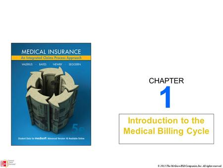 CHAPTER © 2012 The McGraw-Hill Companies, Inc. All rights reserved. 1 Introduction to the Medical Billing Cycle.