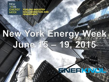 Launched in 2013, New York Energy Week is the first cross-sector event series to unite the historically fragmented and diverse energy industry. The week's.