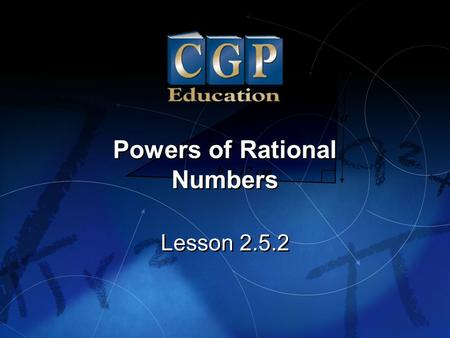 Powers of Rational Numbers
