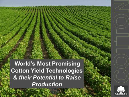 World's Most Promising Cotton Yield Technologies & their Potential to Raise Production.