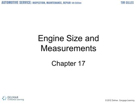 Engine Size and Measurements