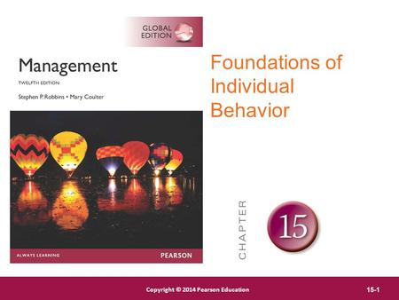 Foundations of Individual Behavior