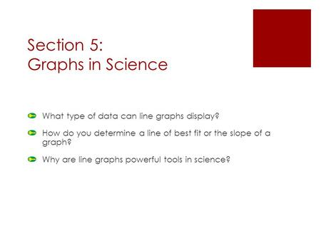 Section 5: Graphs in Science