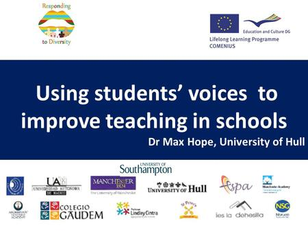 Using students' voices to improve teaching in schools