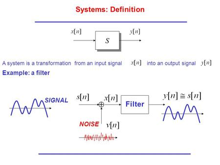 Systems: Definition Filter