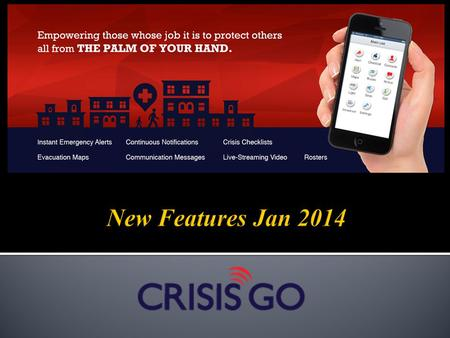 New Features Jan 2014.