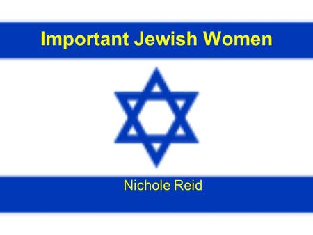 Important Jewish Women Nichole Reid. Henrietta Szold Born in the United States in the year 1860, Henrietta Szold helped shape the political, cultural,