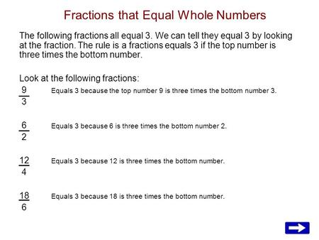 Fractions that Equal Whole Numbers